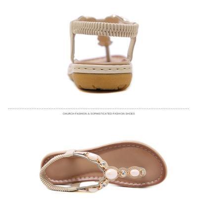 2019 Summer Women Sandals Summer Beach Flip Flops Flat Fashion Sandals Ladies Plus Size Sandals Summer Women Shoes A909