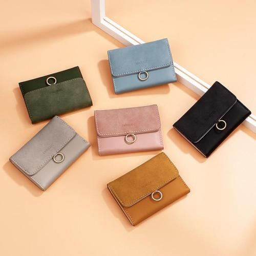 New Brand Women's Wallet Simple Short Wallets Matte Pu Leather Card Holder Women Purse Billeteras Para Mujer Porte Feuille Femme