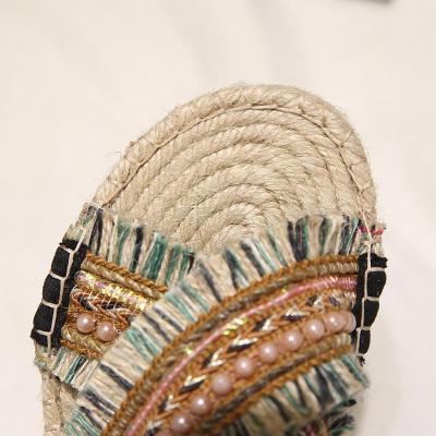 Women Casual Comfort Boho Slippers Peep Toe Shoes