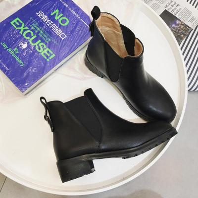 Metal Buckle Flats Short Motorcycle Boots 5083