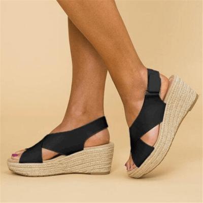 Fashion Versatile Platform Wedge   Sandals