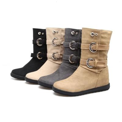 Women's Motorcycle Boots Winter Leisure Short Boots