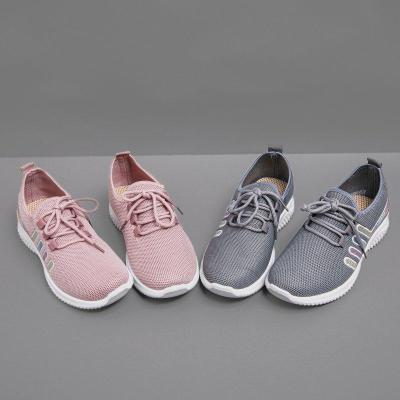 Women Plus Size Daily Lace-Up Sneakers