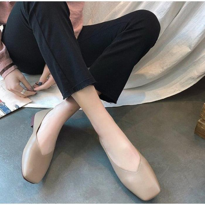 Women Handmade Slip-on Flats Soft Leather Loafers Ballet Ladies Soft Bottom Moccasins Shoes Female Zapatos Mujer Casual Shoes