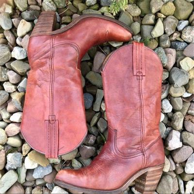 Women Casual Slip-On Mid-Calf Low Heel Boots