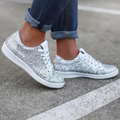 Women Date Sparkling Glitter Sneakers