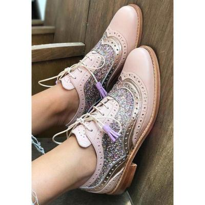 Women Plus Size Color Block Daily Loafers