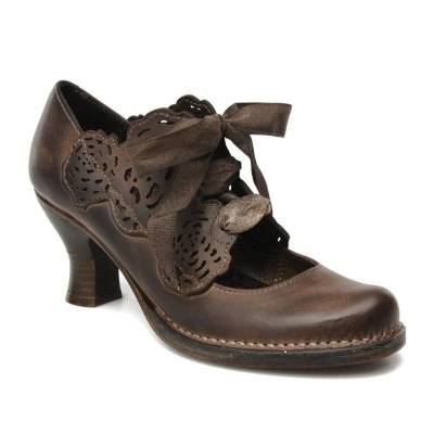 Lace-Up Chunky Hee  Elegant Shoes