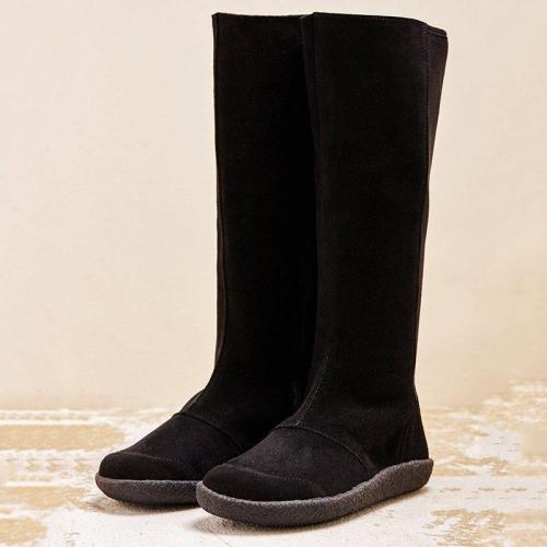 Women Winter Slip-On Suede Knee-High Boots