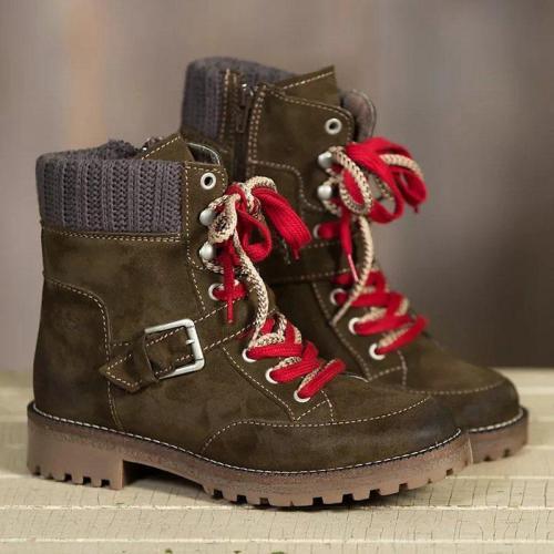 Low Heel Combat Boots