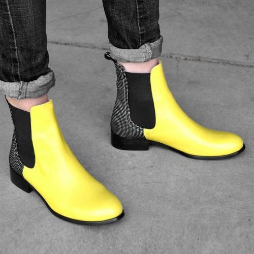 Chelsea Boots Slip-On Artificial Leather Ankle Boots