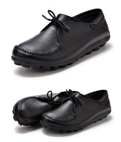 Women Flat Shoes Big Size 43-44 Rubber Non Slip Oxford Shoes For Women Lace Up Nurse Shoes Woman Casual Solid Sewing