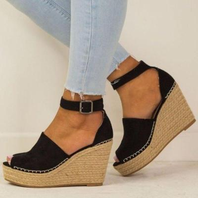 Women Espadrilles Daily Nubuck Sandals Creepers Wedges