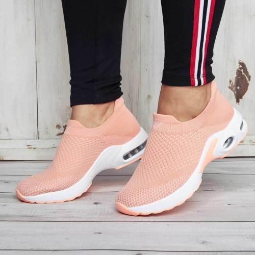 Women Comfort Sneakers Athletic Platform Slip On Shoes