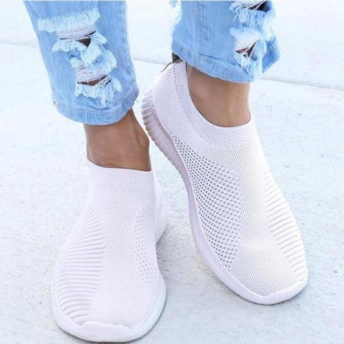 Women Flat Slip on Espadrilles Shoes Woman Super Light White Sneakers Summer Autumn Loafers Chaussures Femme Basket Flats Shoes