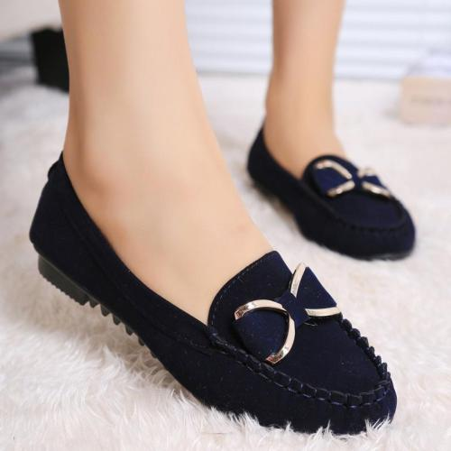 Women Canvas Bow Flat Shoes Woman  Autumn Casual Sewing Solid Platform Shoes Ladies Fashion Wlalking 35-41 New Color