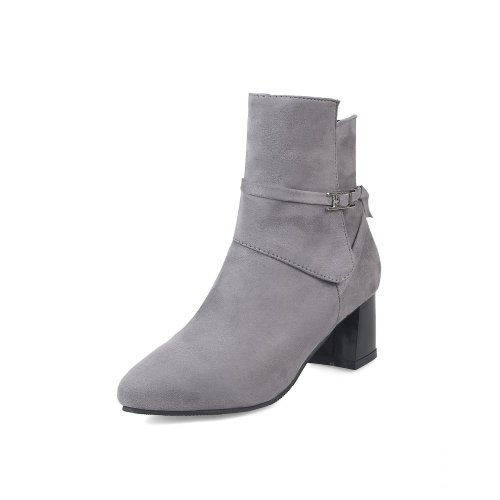 Autumn Winter Short Boots High Heel Thick Heel 31-43 Women's Ankle Boots