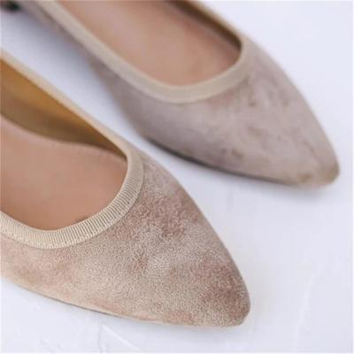 Women's Fashion Simple Solid Color Single Pointed Flat Shoes