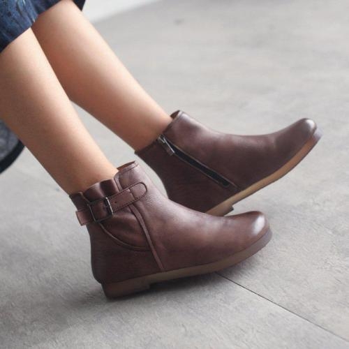 Women's Soft Durable Zip Ankle Boots