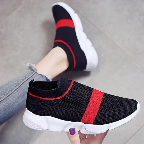Women's Platform Sneakers Summer Air Mesh Non Slip Sock Sneaker Women Rubber Designer Sneakers Woman Solid Wedge Shoes