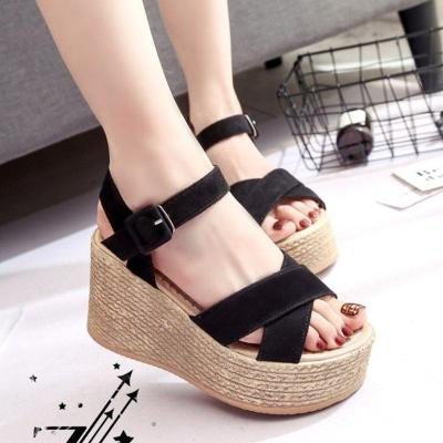 Casual Adjustable Buckle Wedge Heel Sandals
