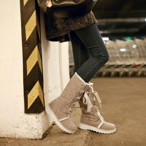 Women's Winter Low Heel Warm Casual Boots