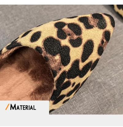 Silentsea 2020 Spring Shoes Women Larger Sizes 34-43 Flats Loafers Shoes Pointed Toe Shallow Mouth Slip-on Ladies Loafer Leopard