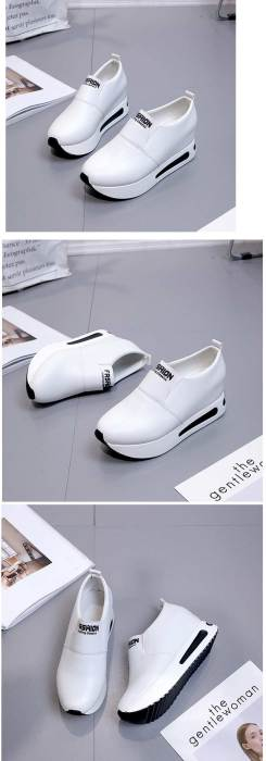 Vulcanize shoes women casual shoes 2020 new fashion solid pu women sneakers slip-on breathable shoes woman zapatos de mujer