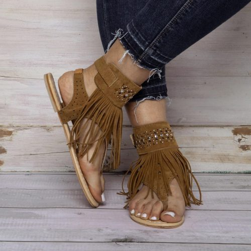 Casual Flat Heel Summer Tassel Sandals