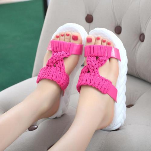 Flat Platform Women Shoes Thick Sole Women Slippers 2019 Summer Shoes Beach Slippers Soft Comfortable A725