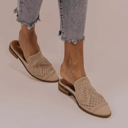 Casual Hollow Out Expose Heel Flats RY22