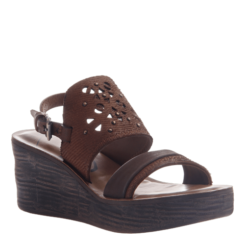 HIPPIE in OAK Wedge Sandals