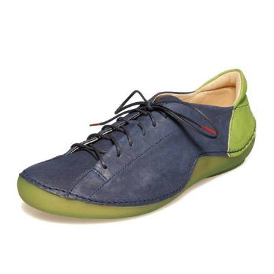 Women Casual Daily Lace Up Soft Leather Comfy Sneakers