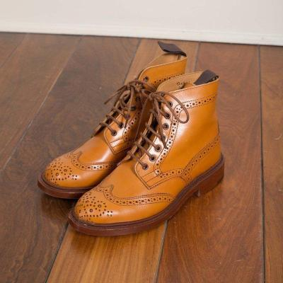 Plus Size Classic Leather Bullock Lace Up Martin Boots