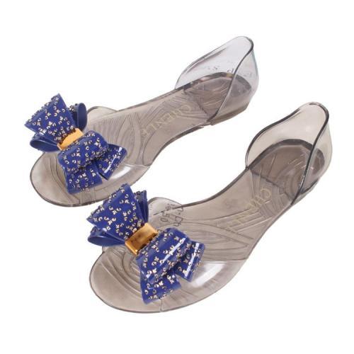 New Fashion Women's Summer Sandals Bow Comfortable Flat Bottom Non-slip Wear Slippers  Women Shoes