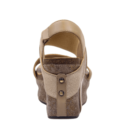 BUSHNELL in MID TAUPE Wedge Sandals