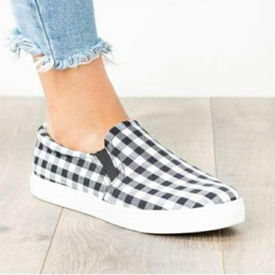 cuteshoeswear2020 Autumn New Women Flats Fashion Women Casual Shoes Candy-colored Plaid Flat Shoes Women Loafers Large Size 35-43 W24-16