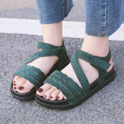 Sandals female shoes 2019 nouveau summer gladiator sandals women shoes casual occasions hook&loop flat with ladies shoes