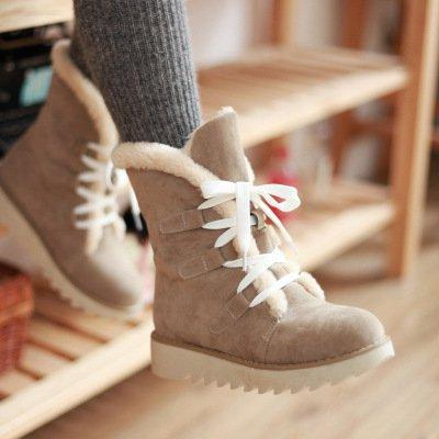 Women's Casual  Low Heel Slip-On Boots