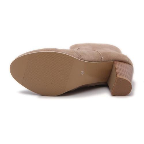 Suede High Heels Short Boots Plus Size Women Shoes 9153