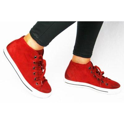 Flat Heel Lace-Up Womens Plus Zize Casual Sneakers