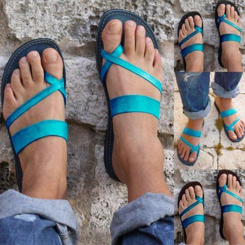 Women Pu Slippers Casual Flip Flops Beach Shoes