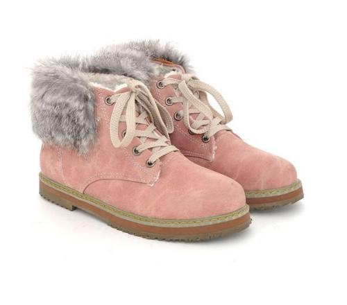 Lace Up Snow Boots Plus Size Women Shoes 8077