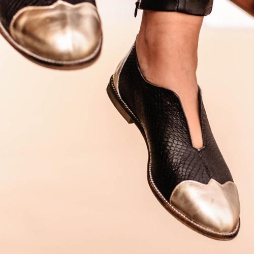 Women Round Toe Slide Pu Casual All Season Low Heel Loafers