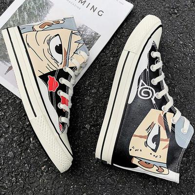 Fashion Canvas Shoes Women Lace Up Anime Sneakers Woman Casual Cozy High Top Sneakers For Women Unisex Sneakers