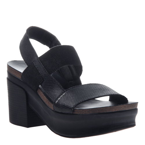 INDIO in BLACK Wedge Sandals