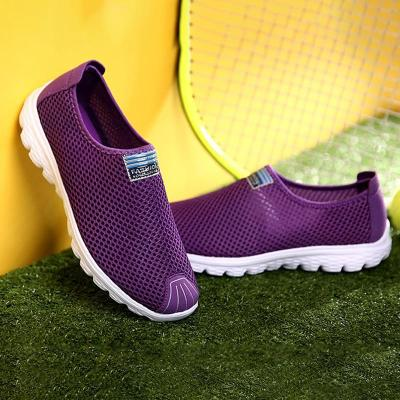 Casual Breathable Mesh Fabric Flat Heel Shoes