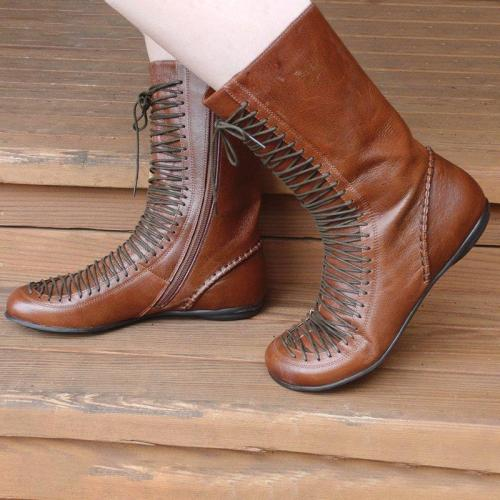Women Vintage Cowgirl Comfy Boot Shoes