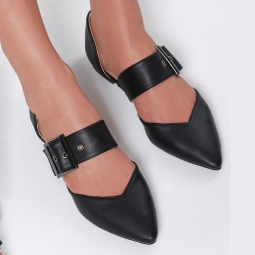Pointed Hollow Flat Shoes
