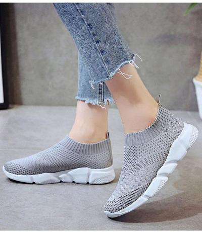 Women's Shoes sports shoes Light Weight Sock Sneaker Women White Black Sneakers Slip On Comfortable Brand Summer Footwear